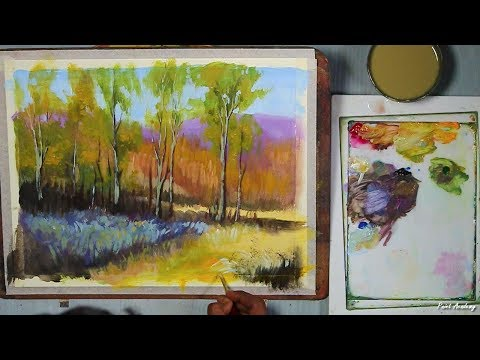 Acrylic Landscape Painting step by step
