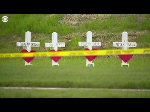 Crosses put up for victims killed in Waffle House shooting