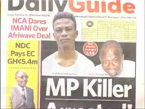 Newspaper headlines - Adom TV (12-2-16)