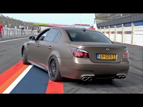 BMW M5 V10 w/ Custom X-Pipe + HMS Exhaust System! LOUD REVS!