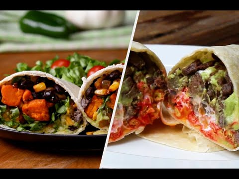 How to Make Burritos 5 Ways ? Tasty Recipes