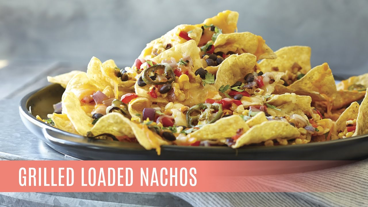 Grilled Loaded Nachos with the Rockcrok Grill Stone | Pampered Chef