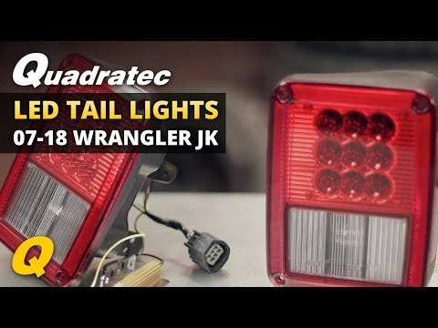 Quadratec LED Tail Lights for 2007-2018 Jeep Wrangler JK