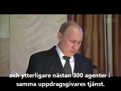 Putin håller tal inför FSB