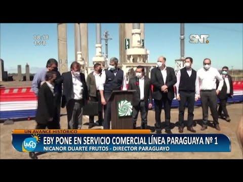 La EBY pone en servicio comercial Línea Paraguaya N° 1
