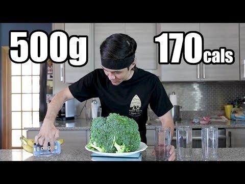 500g Raw Broccoli Challenge DESTROYED
