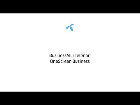 BusinessAll i Telenor OneScreen Business - Lang version