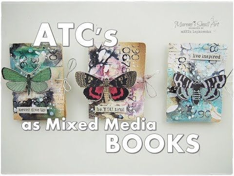 ATC's as Mixed Media BOOKS Tutorial ♡ Maremi's Small Art ♡