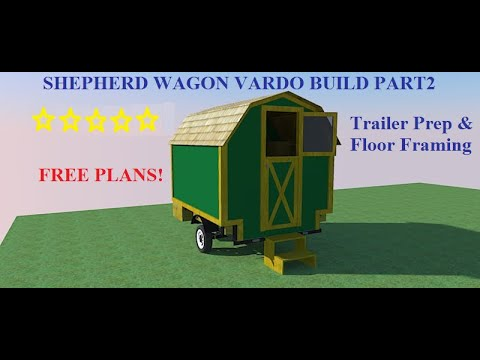 Shepherd Wagon Vardo Part1: Trailer Prep & Floor Framing