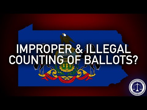 BIG FIGHT in PA: Were 600k Votes Counted IMPROPERLY & ILLEGALLY?