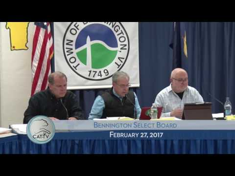 Bennington Select Board - 2/27/17