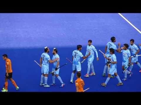 India 4 Malaysia 2. Mens hockey Melbourne 2016