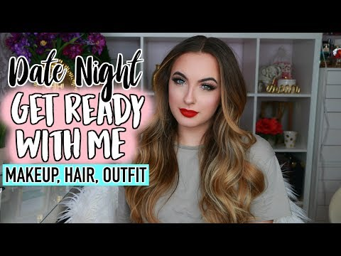 Get Ready With Me Date Night | DRUGSTORE Valentines Day Makeup, Hair, Outfit