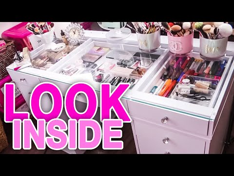 Tour My Makeup / Filming Vanity Table!