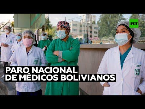 Médicos bolivianos, en paro nacional contra la ley de emergencia sanitaria
