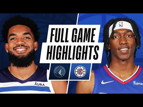 TIMBERWOLVES at CLIPPERS | NBA PRESEASON FULL GAME HIGHLIGHTS | October 11, 2021