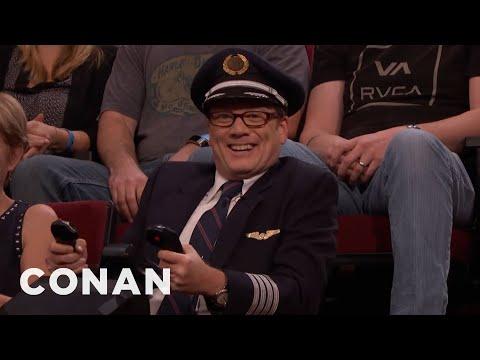 connectYoutube - Andy Daly Is Captain Darren Danendernen: Hero Pilot  - CONAN on TBS