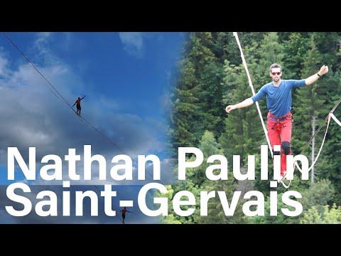 Nathan Paulin highline Saint-Gervais Mont-Blanc Au fil de l'air