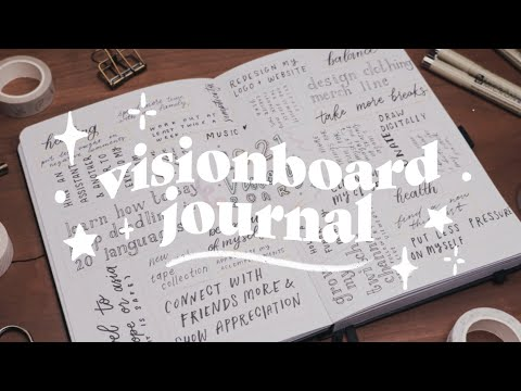 journal with me ✨ new year visionboard