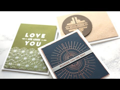 Intricate Metallic Embossing - Simon's NEW Deco Borders and Corners stamp set