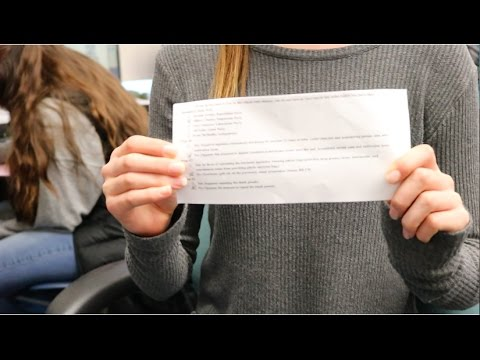 Students cast their ballots in a mock election -Estella Lippi
