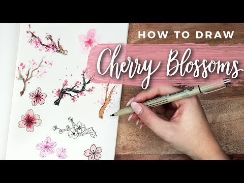 How to Draw Cherry Blossom Flowers! | DOODLE WITH ME + Tutorial!