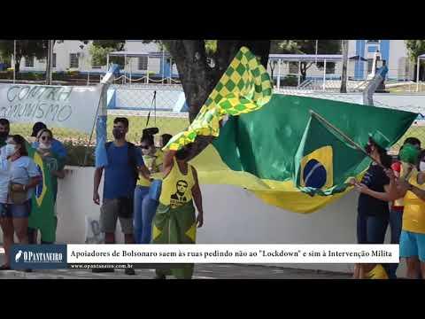 Apoiadores de Bolsonaro saem às ruas pedindo não ao Lockdown e sim à Intervenção Militar