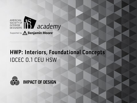 Course Preview: HWP: Interiors, Foundational Concepts (3)*