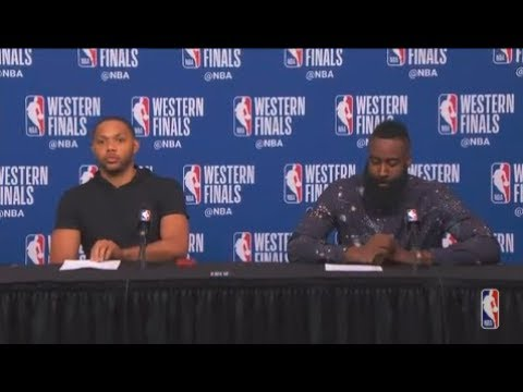 Eric Gordon and James Harden Postgame Interview | Warriors vs Rockets Game 5