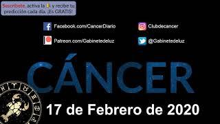 Horóscopo Diario - Cáncer - 17 de Febrero de 2020