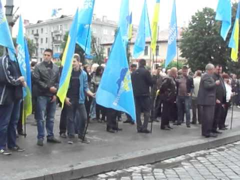 Кобевко і Вірна на Антифашистському мітингу