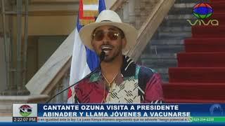 Ozuna se reúne con el presidente Luis Abinader y llama jóvenes a vacunarse | Noticentro