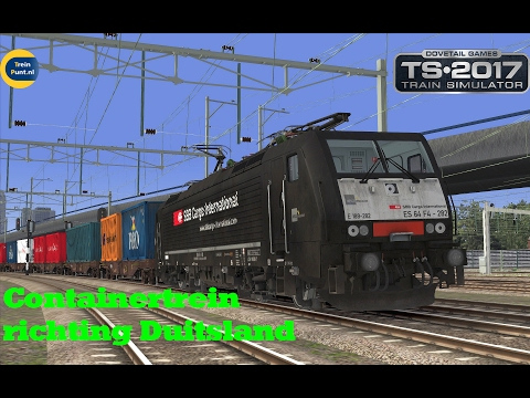 Containertrein richting Duitsland | vR BR189 282 | Train Simulator 2017