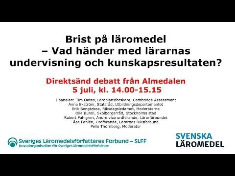 Sveriges Läromedelsförfattares Förbund och Svenska Läromedel i Almedalen 2018