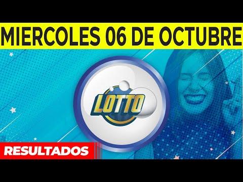 Sorteo Lotto y Lotto Revancha del Miércoles 6 de octubre del 2021