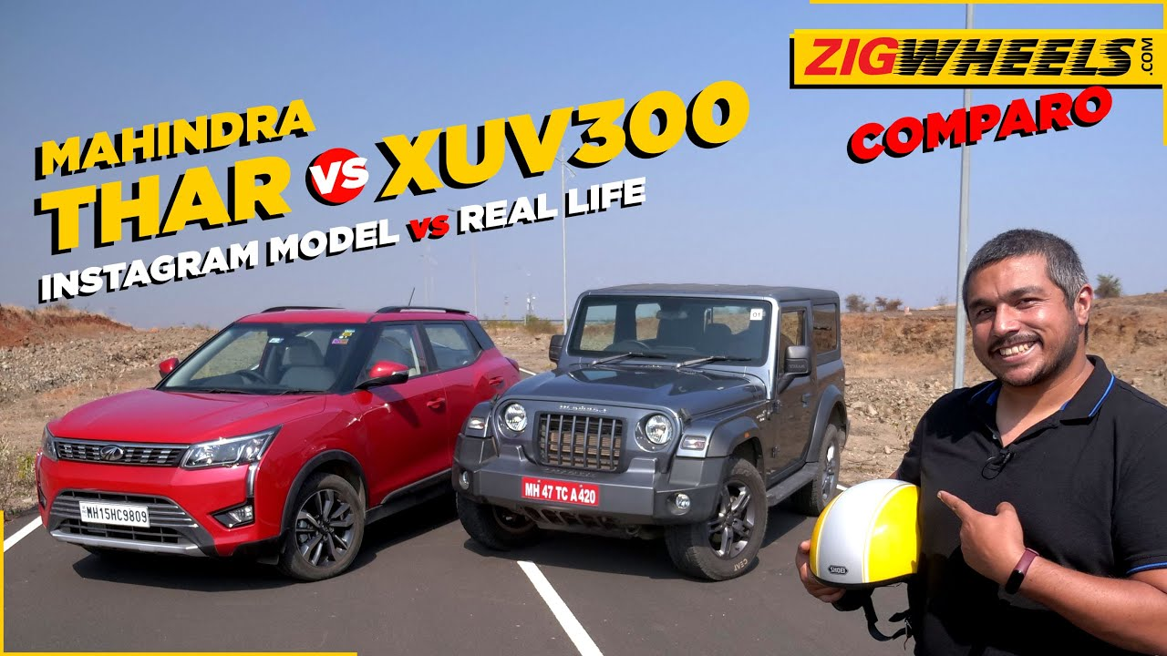 Mahindra Thar vs XUV300 | Has the monster been tamed? | ZigWheels.com