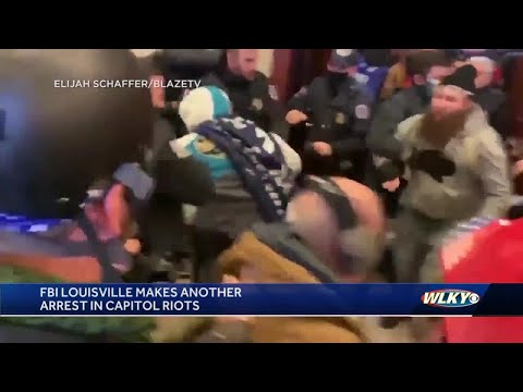 FBI arrests KY man caught on video breaking into speaker's lobby during U.S. Capitol riot