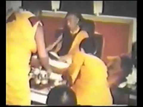 His Holiness Trijang Rinpoche accepts Long Life puja