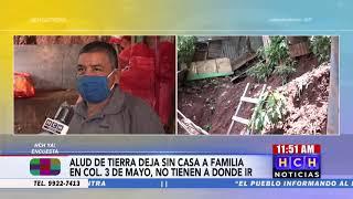Vecina de col  3 de mayo solicita materiales para reconstruir su casa dañada por lluvias