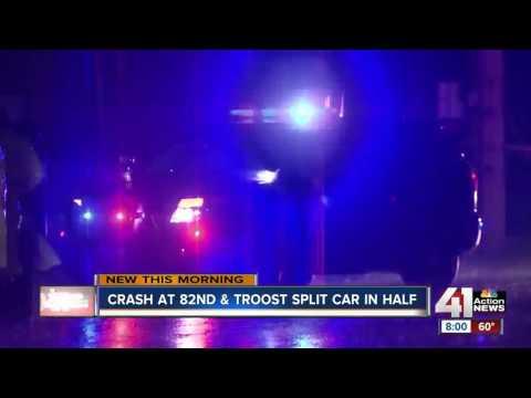 Fatal crash at 82nd and Troost split car in half