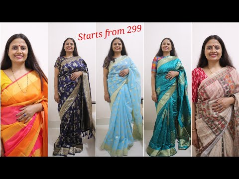 Rakhi Special Huge Silk Saree Haul Starts from 299 - Amazon Festive Saree Haul