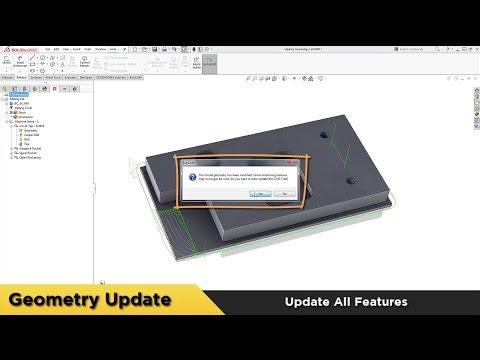 Update All Geometry - BobCAM for SOLIDWORKS™