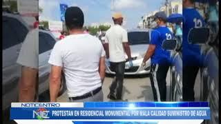 Protestan en el residencial Monumental por la baja calidad de agua