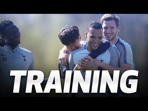 TRAINING | SPURS GEAR UP FOR FA CUP SEMI FINAL