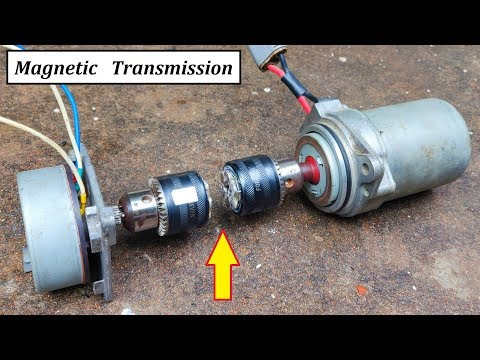 24v 480W Magnetic Transmission for DC Motor Generator Testing - Amazing Idea DIY