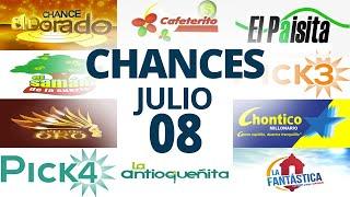 Resultados del Chance del Miércoles 8 de Julio de 2020 | Loterías ????????????????