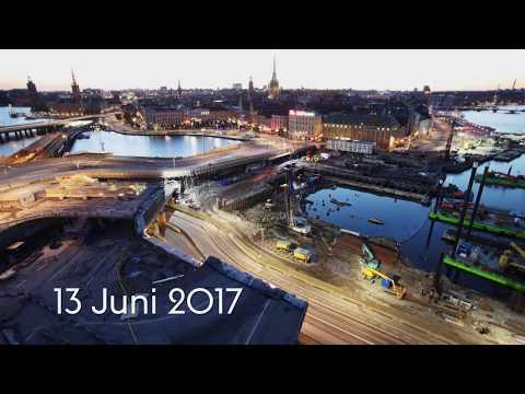 Timelapse - Projekt Slussen juni 2016 - juni 2017