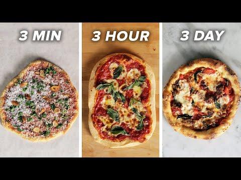 3-Minute Vs. 3-Hour Vs. 3-Day Pizza ?Tasty