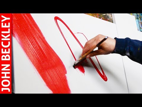 Abstract Painting Demonstration with Acrylic | Marigold