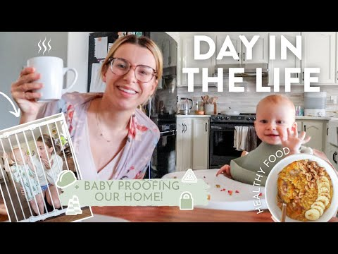DAY IN THE LIFE | Alone With a Baby, Proofing Our Home + Pumpkin Spice Oatmeal